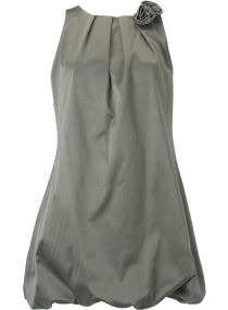 Grey Rose Bubble Hem Dress